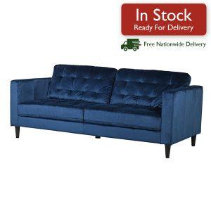 Navy-Velvet-3-Seater-Sofa