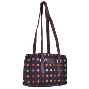 Mala Abertweed Triple Zip Shoulder Bag 727 40 Plum Spot