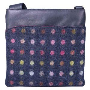 Mala Abertweed Handbags 752 40 Navy Spot
