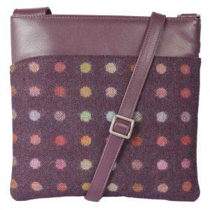Mala Abertweed Handbags 752 40 Plum Spot