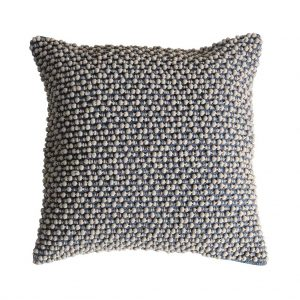 Cambo Pom Pom Cushion Slate Grey