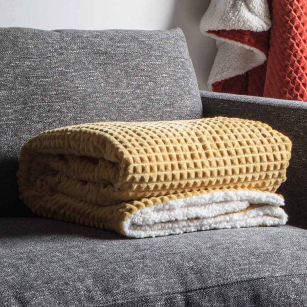 Cubic Embossed Sherpa Throw Orche