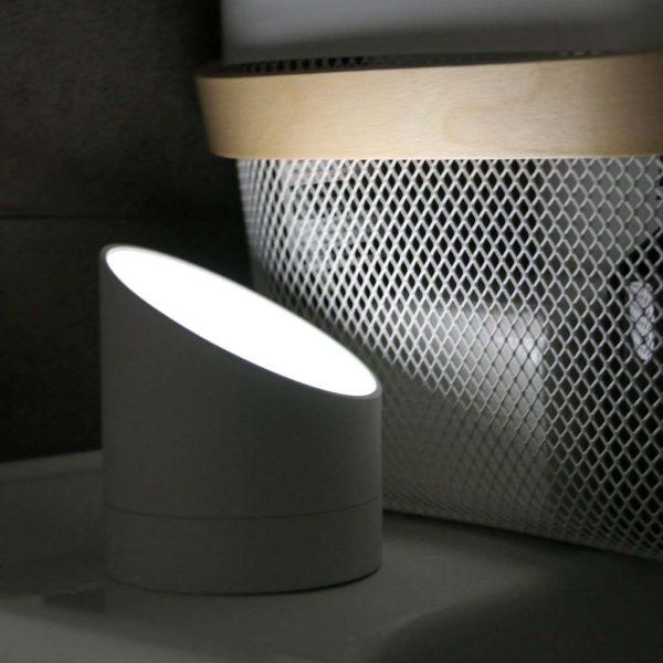 G001-GY-The Edge Light Alarm Clock - Grey