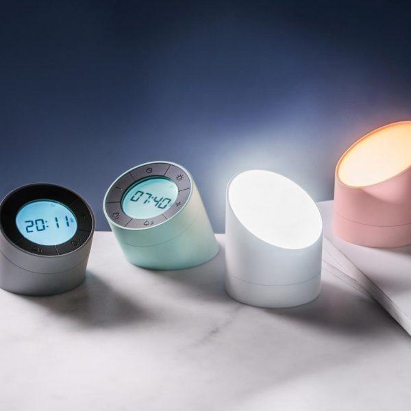 G001-WT-The Edge Light Alarm Clock - White
