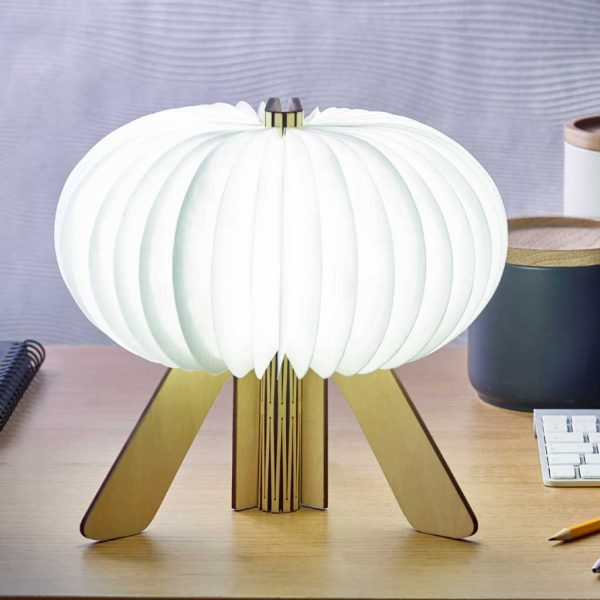 G002-ME - The R Space Lamp - Maple