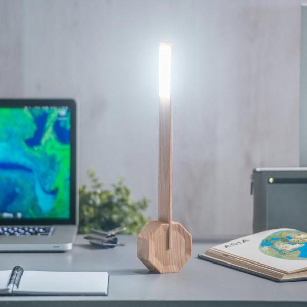 GK11-ME- Octagon One Desk Light- Maple