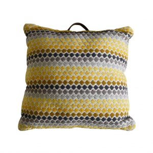 Malmo Floor Cushion Yellow & Grey