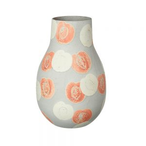 Ceramic-Vase-Peach-Slice