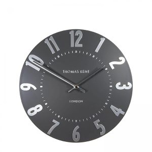 "12"" Mulberry Wall Clock Graphite Silver"