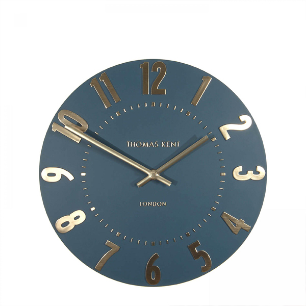 "12"" Mulberry Wall Clock Midnight Blue"