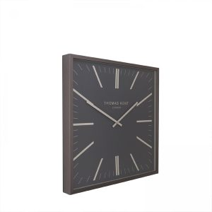 "16"" Garrick Wall Clock Graphite"