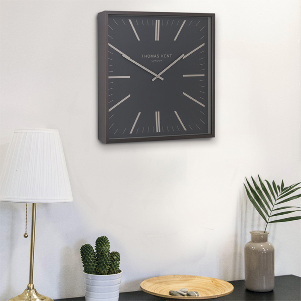 "16"" Garrick Wall Clock Graphite"