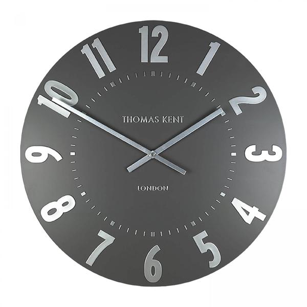 """20"""" Mulberry Wall Clock Graphite Silver"""