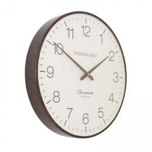 "21"" Greenwich Club Wall Clock Walnut"