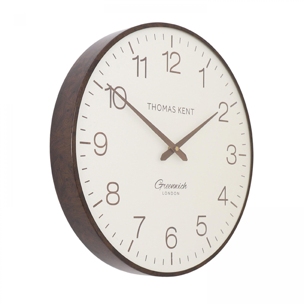 "21"" Greenwich Club Wall Clock Walnut"