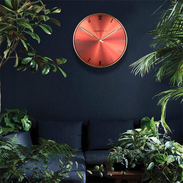 "21"" Jewel Wall Clock Garnet"