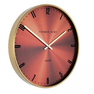 "21"" Jewel Wall Clock Garnet"