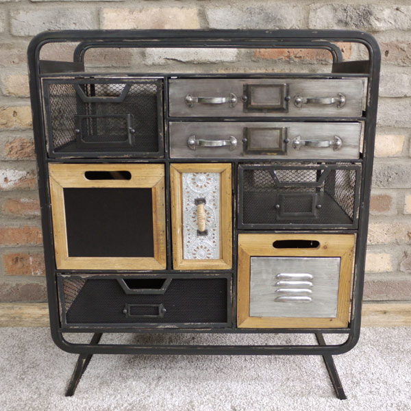 Industrial Cabinet 8 Drawers