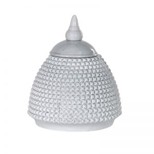 Grey Domed Bobble Jar