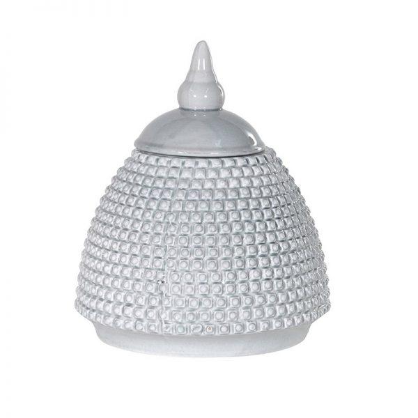 Grey Domed Bobble Jar