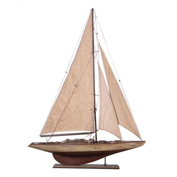 Antique Cream Sailboat