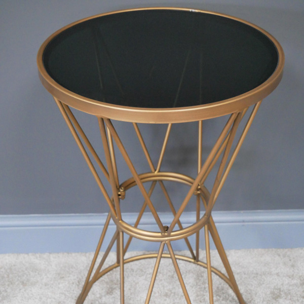 Gold & Black Plant Stand