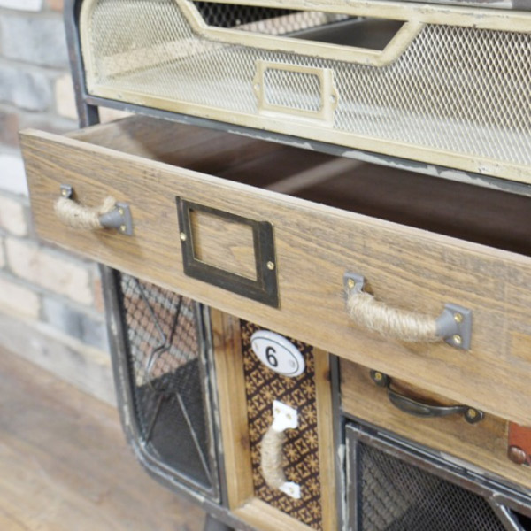 Industrial 7 Drawer Cabinet