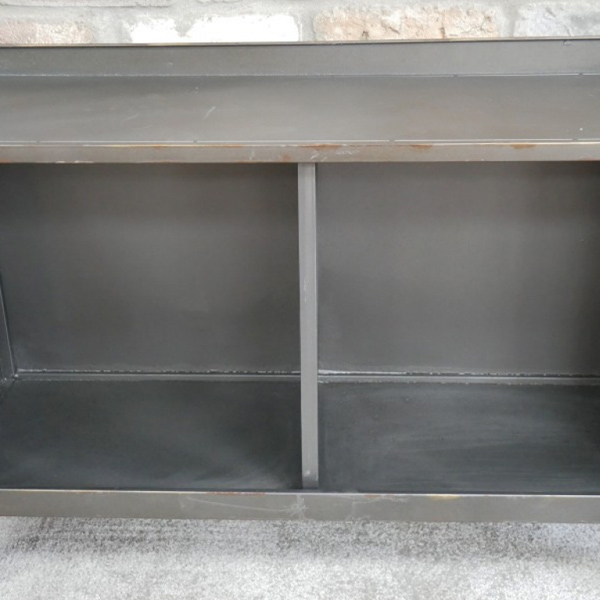 Industrial Cabinet With 2 Glass Doors