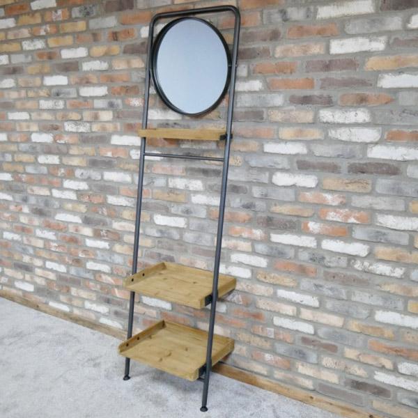 Industrial Shelves & Mirror