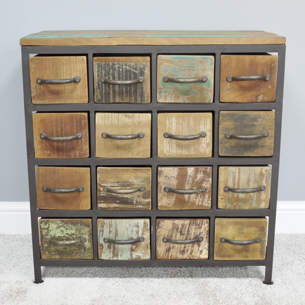 Distressed Multi Drawer Cabinet