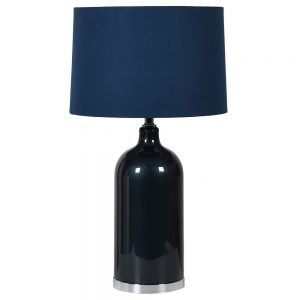 Night Blue Glass Lamp & Shade