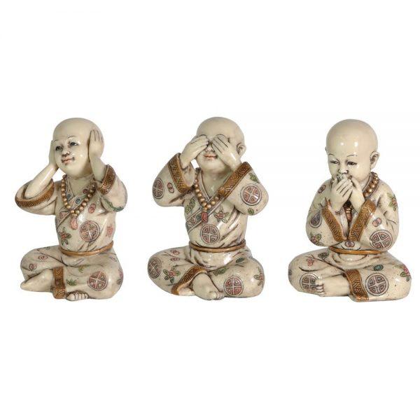 Set of 3 See No Evil Figures