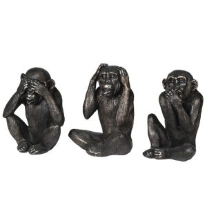 Set of 3 No Evil Monkeys