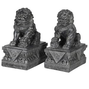 Pair Of Distressed Foo Dogs