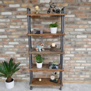 Tall Floor Standing Pipe Shelf