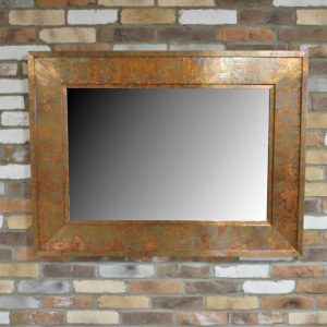 Copper Mottled Mirror
