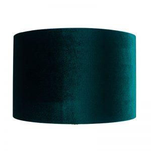 35cm Forest Green Velvet Cylinder Shade