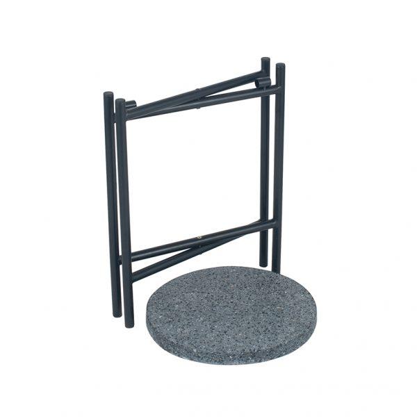 Black Terrazzo & Matt Black Metal Table Small