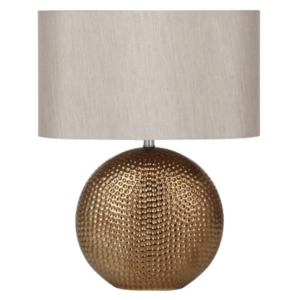 Bronze Ceramic Table Lamp Complete