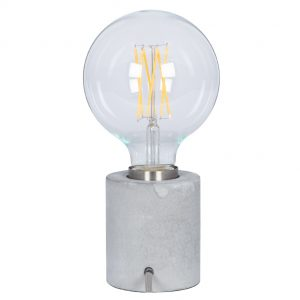 Concrete and Brushed Chrome Bulb Holder