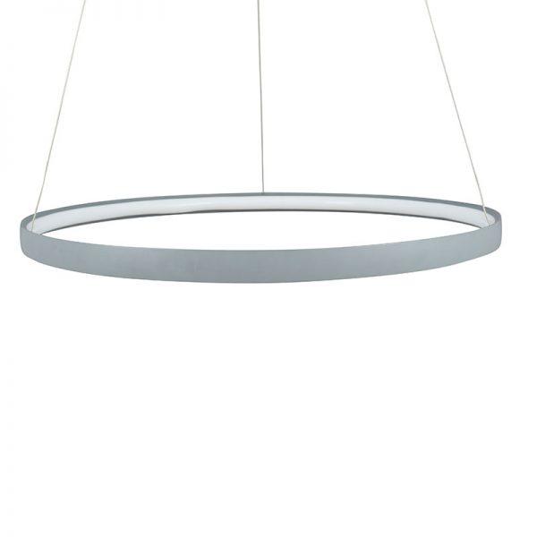 Grey LED Round Pendant