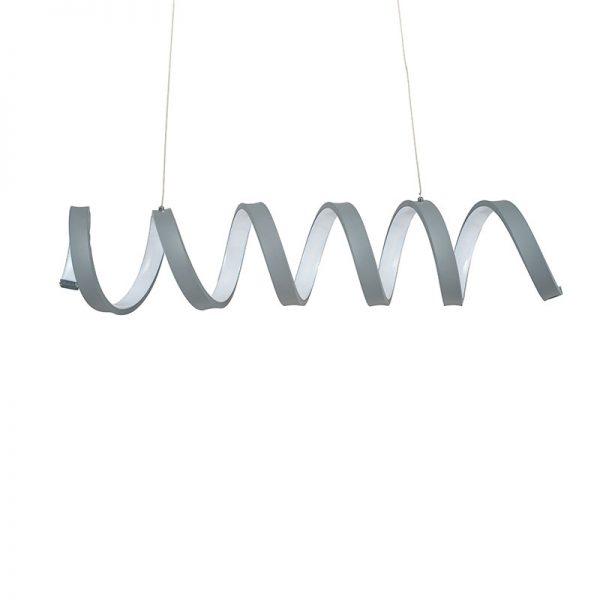 Grey Spiral Electrified Pendant