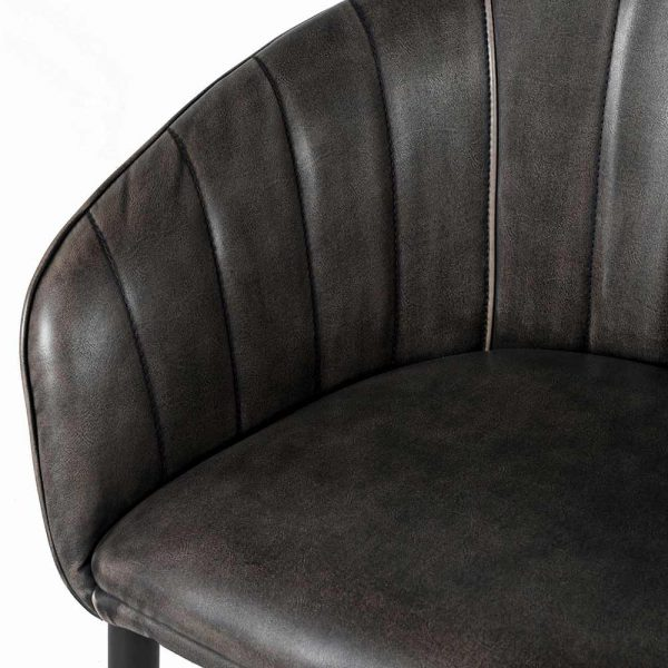 Grey Curved Chair