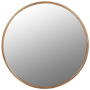 Large Round Gold Frame Mirror