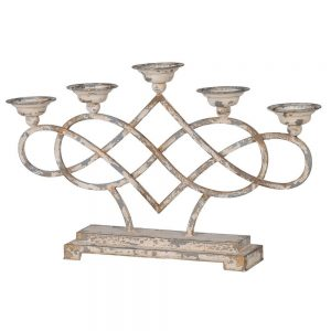 Distressed Multi Metal Candle holder