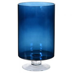 Tall Blue Glass Hurricane
