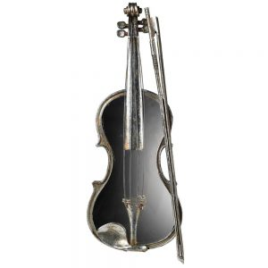 Mirrored Violin Wall Decor