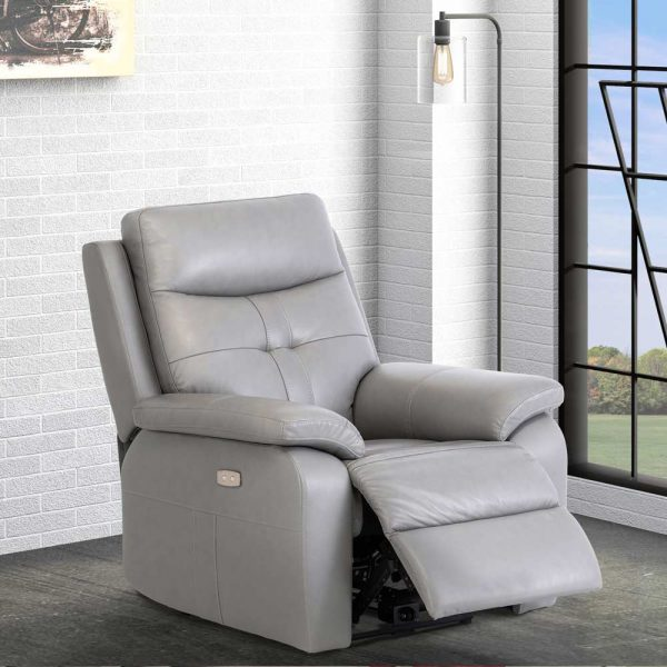 Sophia-leather-recliner-grey