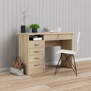 Function 109cm Desk W/ 5 Drawers