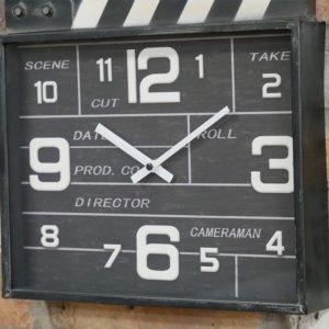Movie Clapboard Clock